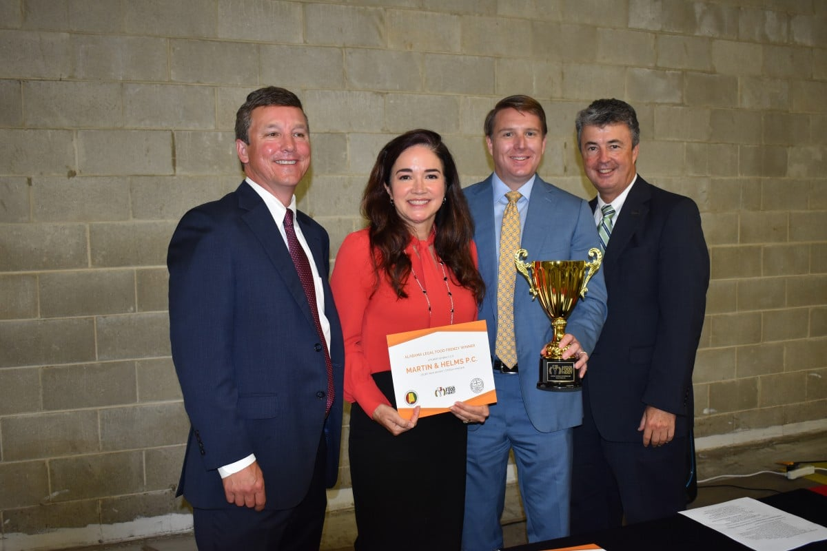 Two-time recipient of the Attorney General's Cup for the Alabama Legal Food Frenzy!